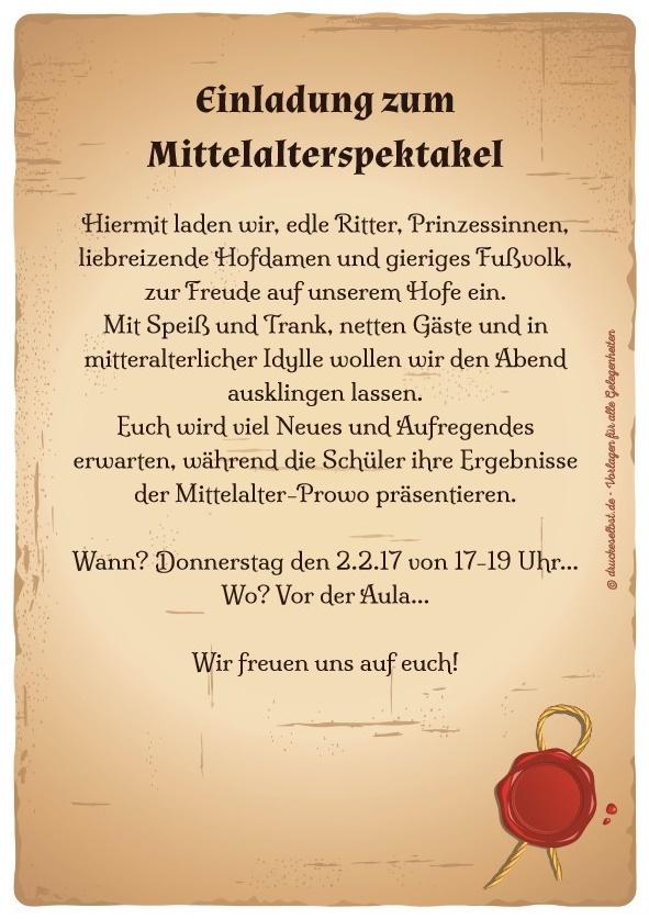 Einladung Mittelalter   animefc.info